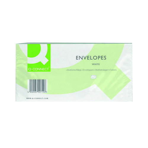 Q-Connect DL Envelopes Window Peel and Seal 100gsm White (Pack of 500) KF03000