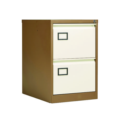 Jemini 2 Drawer Filing Cabinet Coffee/Cream KF03006