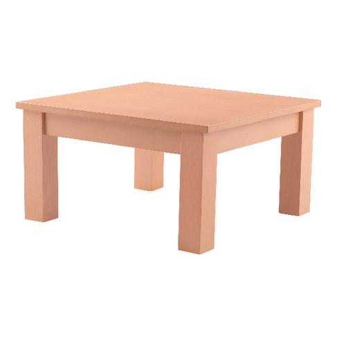 Arista Beech 600mm Square Reception Table (Dimensions: H320 x W600 x D600mm) KF03323