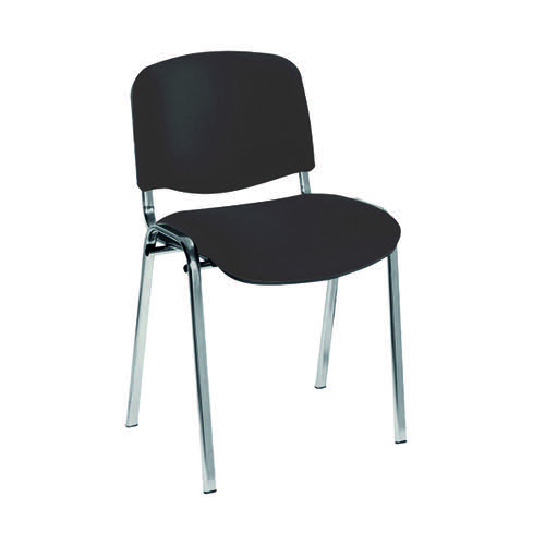Jemini Ultra Multi Purpose Stacking Chair Charcoal/Chrome KF03350