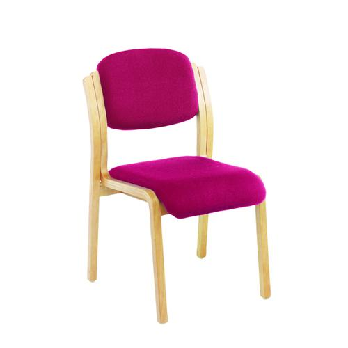 Jemini Claret Wood Frame Side Chair No Arms KF03513 by VOW, KF03513