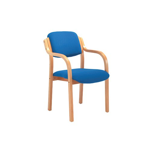 Jemini Wood Frame Chair with Arms 700x700x850mm Blue KF03514
