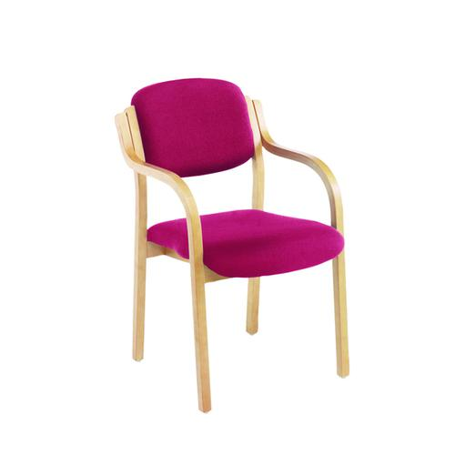 Jemini Claret Wood Frame Side Chair With Arms KF03515 by VOW, KF03515