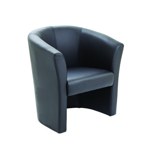 Avior Black Vinyl Tub Chair (Seat Dimensions: W460 x D480mm) KF03527