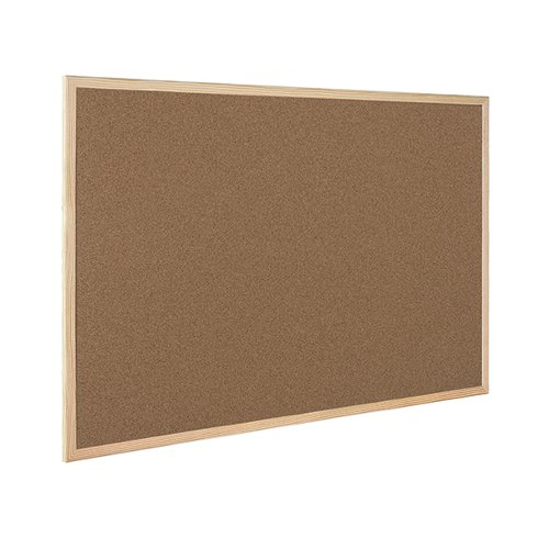 Q-Connect Lightweight Cork Noticeboard 600x900mm KF03567