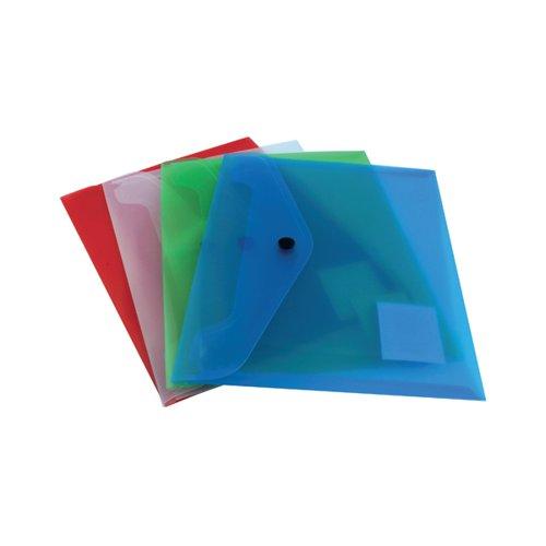 Q-Connect Polypropylene Document Folder A5 Assorted (Pack of 12) KF03609