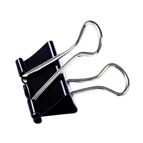 Q-Connect Foldback Clip 16mm Black (Pack of 10) KF03650