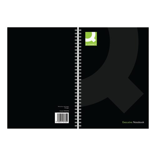 Q-Connect Polypropylene Wirebound Book A5 Black (Pack of 3) KF03730