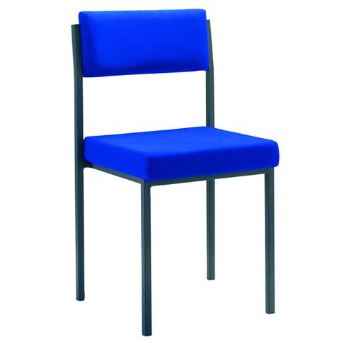 Jemini Multi Purpose Stacking Chair Blue (Fabric upholstered seat and back) KF04002