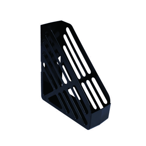 Q-Connect Magazine Rack Black CP073KFBLK