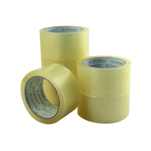 Q-Connect Low Noise Polypropylene Packaging Tape 50mm x 66m Clear (Pack of 6) KF04382