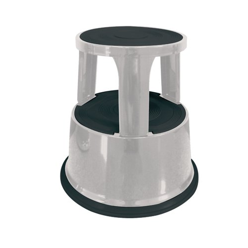 Q-Connect Metal Step Stool Light Grey KF04844