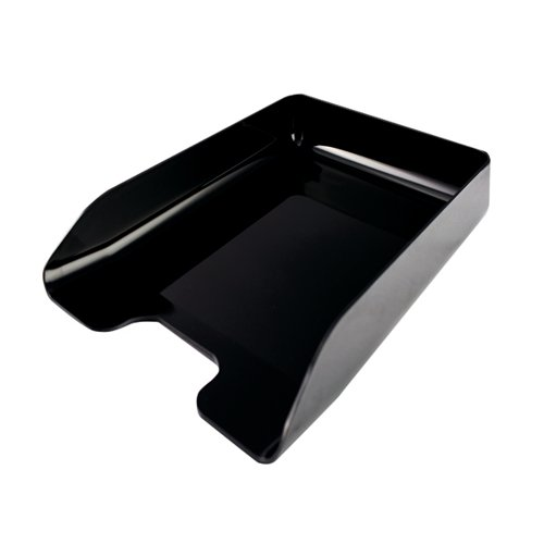 Q-Connect Executive Letter Tray Black (Suitable for A4 and Foolscap documents) CP125KFBLK