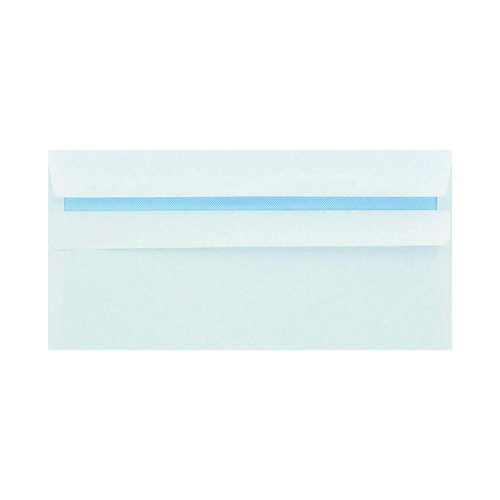 Q-Connect DL Envelope Wallet Self Seal 80gsm White (Pack of 250) KF07556
