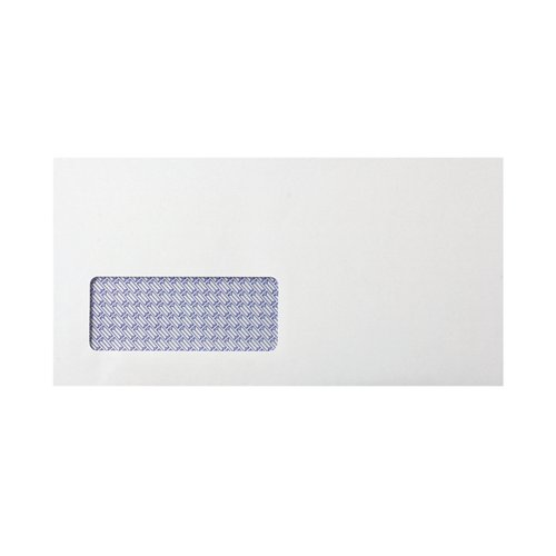 Q-Connect DL Envelope Window Self Seal 80gsm White (Pack of 250) KF07557