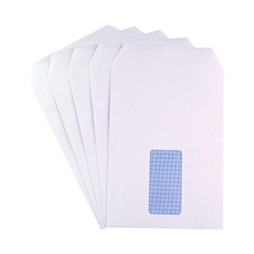Q-Connect C5 Envelope Window Self Seal 90gsm White (Pack of 150) KF07559