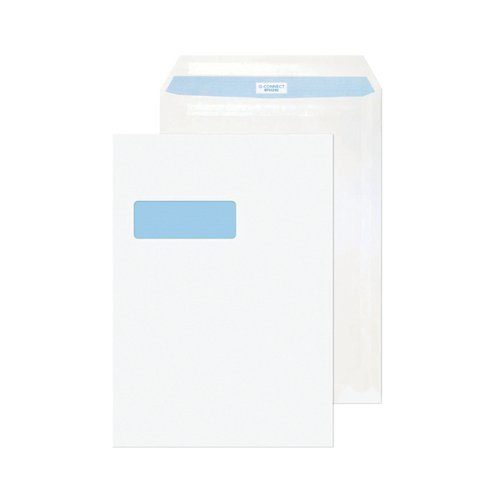 Q-Connect C4 Envelope Window Self Seal 90gsm White (Pack of 75) KF07561