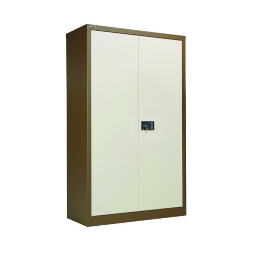 Jemini  2 Door 1806mm Storage Cupboard Coffee/Cream KF08082