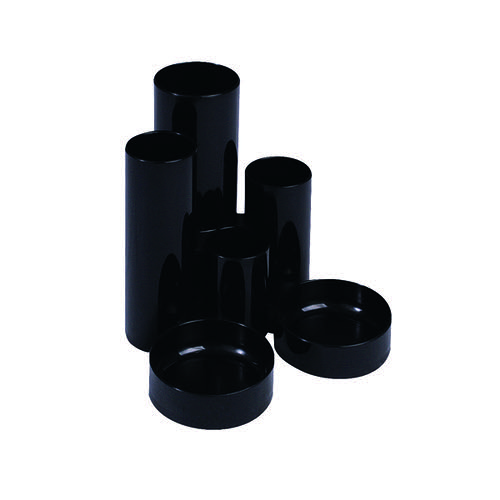 Q-Connect Black Tube Desk Tidy MPTUBKPBLK