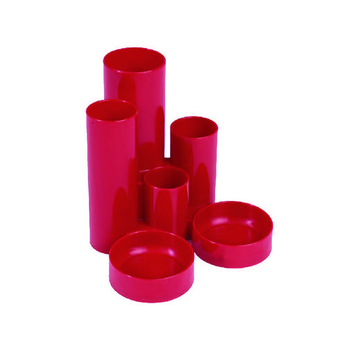 Q-Connect Red Tube Desk Tidy MPTUBKPRED