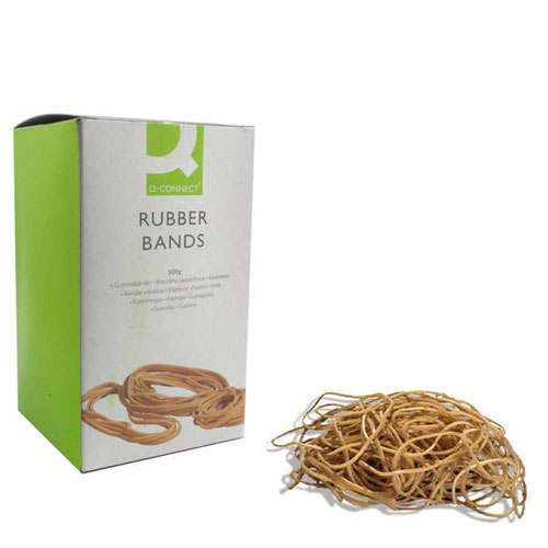 Q-Connect Rubber Bands No.64 88.9 x 6.3mm 500g KF10549