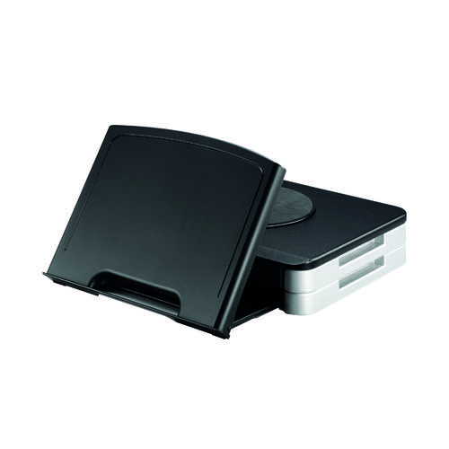 Q-Connect Black Monitor Stand/Copyholder KF10700