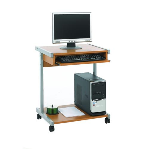 Serrion Beech 650mm Mobile Computer Workstation KF14101