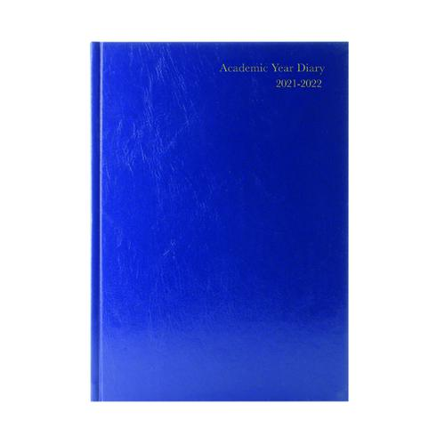 Academic Diary Day Per Page A4 Blue 2021-22 KF1A4ABU21