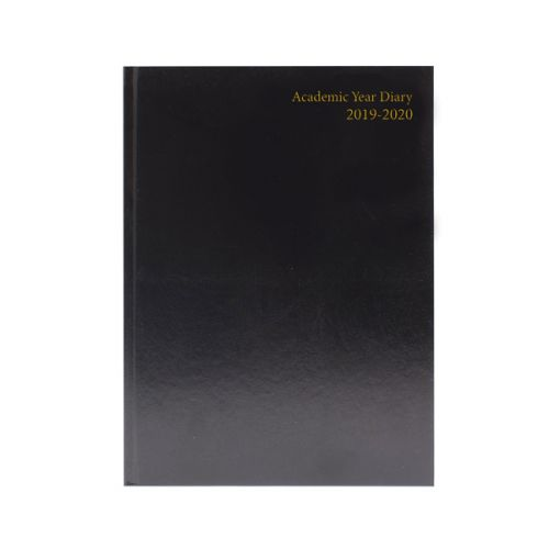 Academic Diary A5 Day Per Page 2019-20 Black KF1A5ABK19