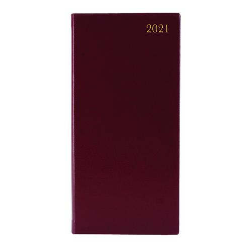 Portrait Diary Week to View Slim Burgundy 2021 KF1BG21