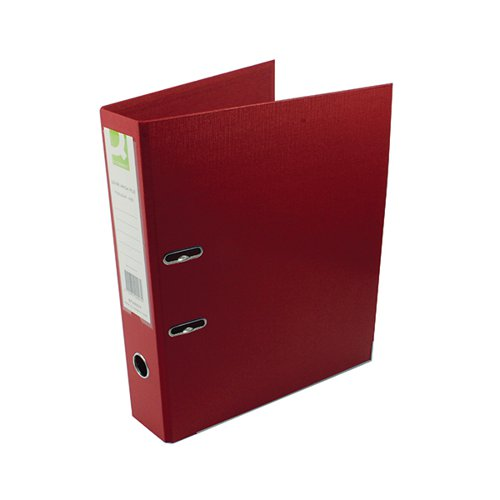 Q-Connect 70mm Lever Arch File Polypropylene Foolscap Red (Pack of 10) KF20027