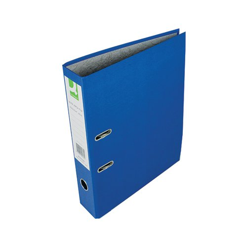 Q-Connect Lever Arch File Paperbacked Foolscap Blue (Pack of 10) KF20030