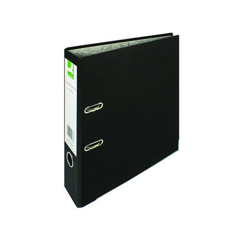Q-Connect Lever Arch File Paperbacked A4 Black (Pack of 10) KF20038