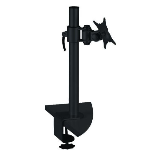 Q-Connect Black Flat Screen Pivot Monitor Arm KF20083