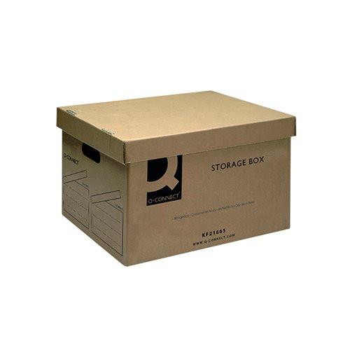 Q-Connect Brown Storage Box 335x400x250mm KF21665