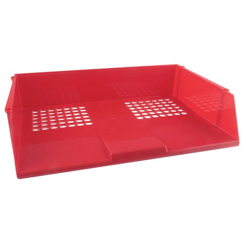 Q-Connect Wide Entry Letter Tray Red KF21691