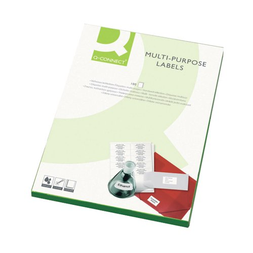 Q-Connect Multipurpose Labels 99.1x38.1mm 14 Per Sheet White (Pack of 1400) KF26054