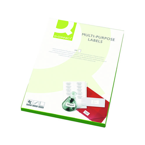 Q-Connect Multipurpose Labels 99.1x67.7mm 8 Per Sheet White (Pack of 800) KF26055