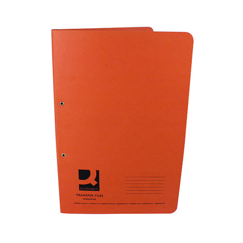 Q-Connect Transfer File 35mm Capacity Foolscap Orange (Pack of 25) KF26059