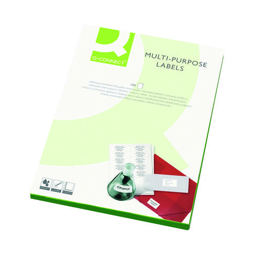 Q-Connect Multipurpose Labels 64x33.9mm 24 Per Sheet White (Pack of 2400) KF26071