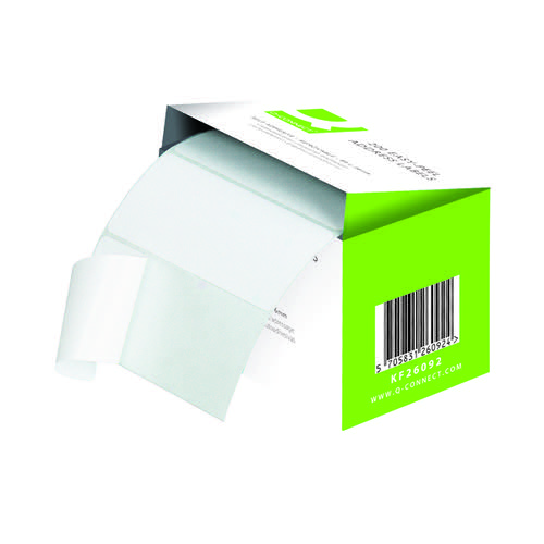 Q-Connect Address Label Roll Repositionable Self Adhesive 89mmx36mm White (Pack of 200) KF26092