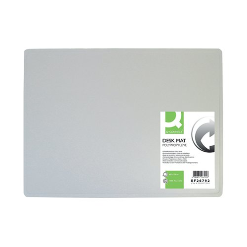 Q-Connect PP Desk Mat With Non-Slip Surface 40X53 Clear KF26792