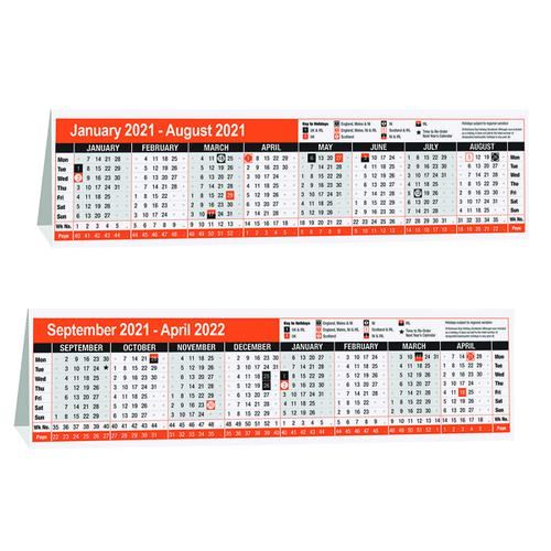 16 Month Desktop Calendar 280 x 80mm 2021 KF3004021