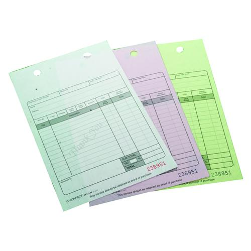 Q-Connect 3-Part Register Receipt Form (Pack of 75) KF32109