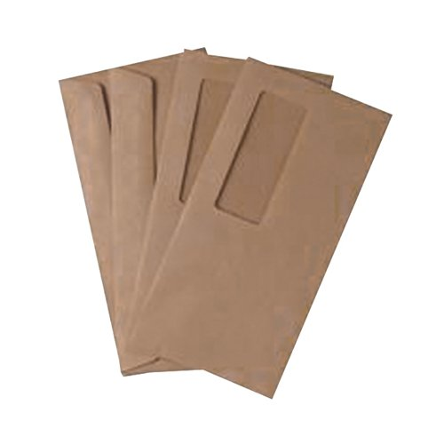 Q-Connect DL Envelopes Wallet High Window Gummed 70gsm Manilla (Pack of 1000) 721204