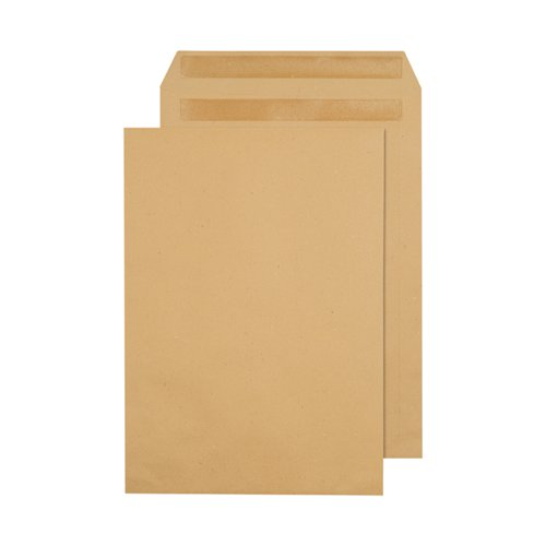 Q-Connect C4 Envelopes Pocket Self Seal 90gsm Manilla (Pack of 250) X1082/01