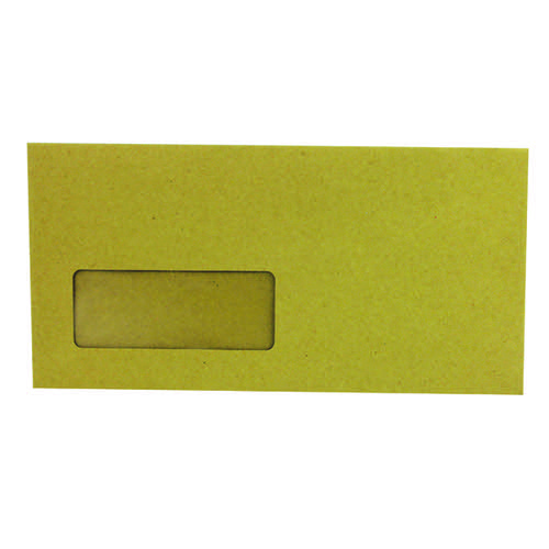 Q-Connect DL Envelopes Wallet Window Gummed 70gsm Manilla (Pack of 1000) KF3423