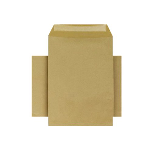 Q-Connect C4 Envelopes Pocket Gummed 80gsm Manilla (Pack of 250) KF3428
