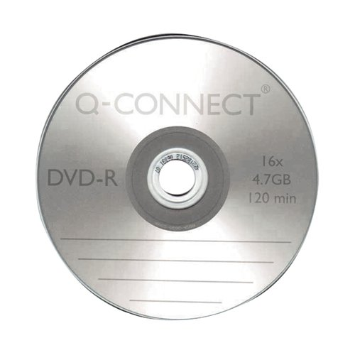 Q-Connect DVD-R Slimline Jewel Case 4.7GB ( 16x speed DVD-R 120 minute capacity) KF34356