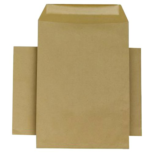 Q-Connect Envelope 254x178mm Pocket Self Seal 90gsm Manilla (Pack of 250) KF3445